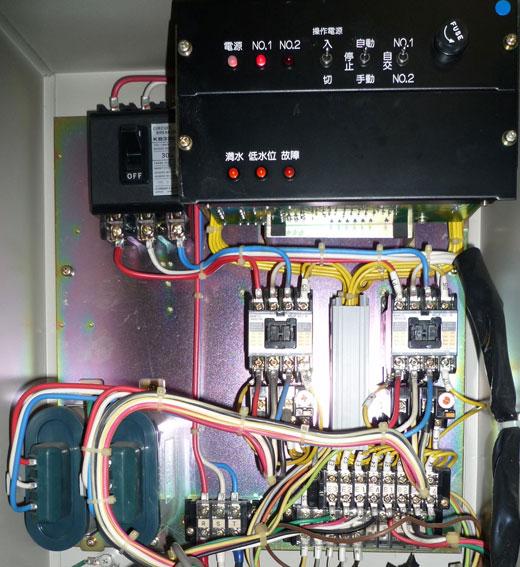 エバラ 40UDPF2 52.2 制御盤内の写真