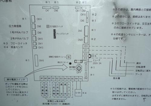 テラル AX-LAT402-51.5D 定圧式 加圧給水ポンプユニット 外部結線図