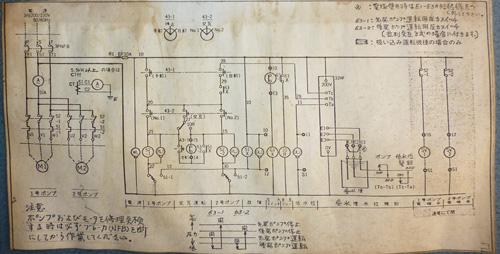 エバラ 制御盤 YIPD23.7BD 回路図
