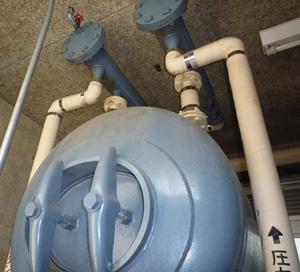 エバラ 50UYPM3453.7 圧力タンク正面 開放口