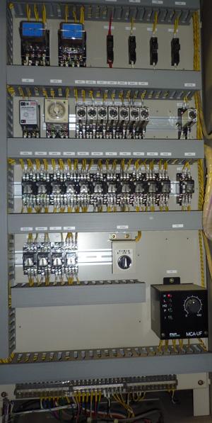 テラル 80VF-65×50H55.5 制御盤内 正面側