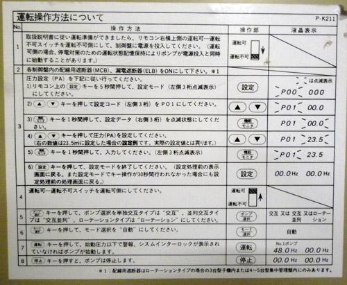 P-K211 操作方法